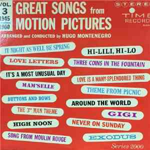 Hugo Montenegro - Great Songs From Motion Pictures Vol. 3 (1945-1960)
