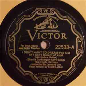 The High Hatters - I Don't Want To Dream / Sweet Jennie Lee